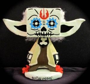 Denise Vasquez - Vinyl Dia de Los Muertos Yoda Doll