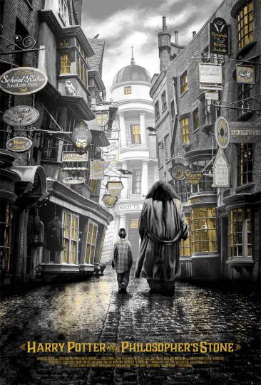 Harry Potter and the Philosopher's Stone Ape Meets Girl print