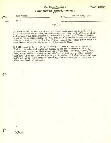 Walt Disney Letter 8