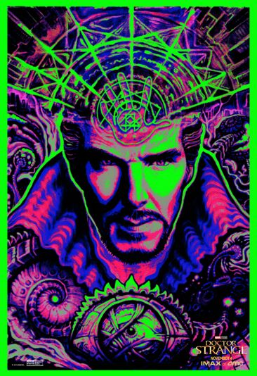 Doctor Strange blacklight poster (green)
