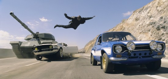 Fast and Furious 6 - flying from tank