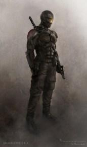 GI Joe Retaliation concept art - Snake Eyes