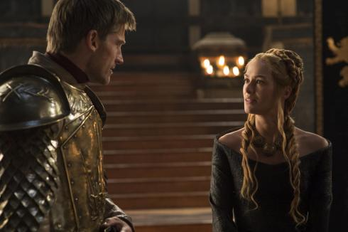 Nicolaj Coster-Waldau as Jaime Lannister, and Lena Headey as Cersei Lannister.