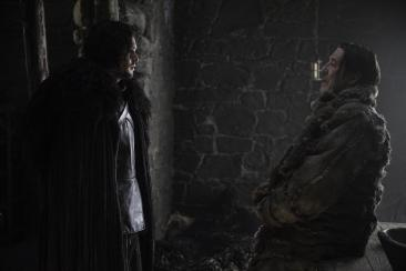 Kit Harington as Jon Snow and Ciaran Hinds as Mance Rayder.