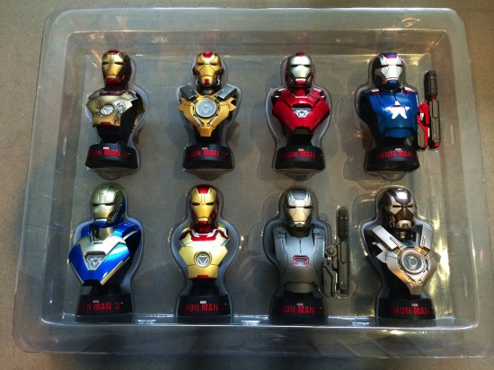 Hot Toys Iron Man 3 Mini Busts Deluxe Set unboxed