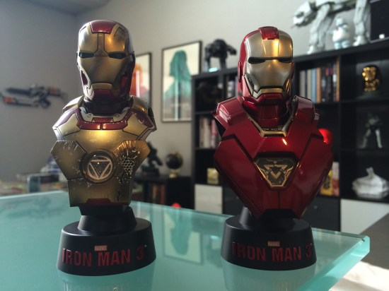 Hot Toys Iron Man 3 Mini Busts Deluxe Set