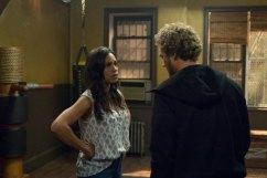 Iron Fist - Claire Temple (Rosario Dawson) and Danny Rand (Finn Jones) in dojo