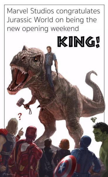 Jurassic World beats The Avengers