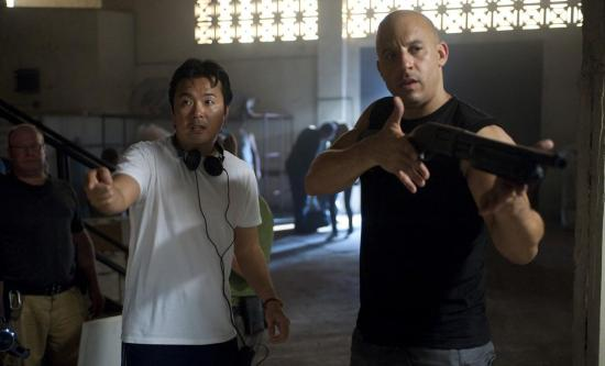 Justin Lin directing Fast Five