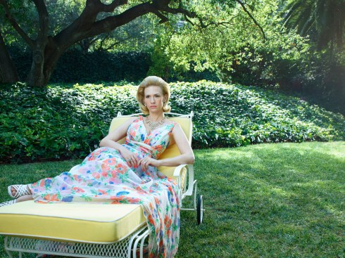 Mad Men Season 7 garden party - Betty