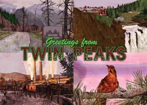 Matt Brazier Twin Peaks Postcard