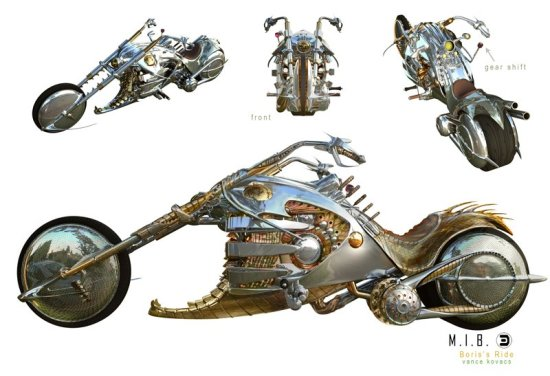 Men in Black 3 - Boris motorbike concept art