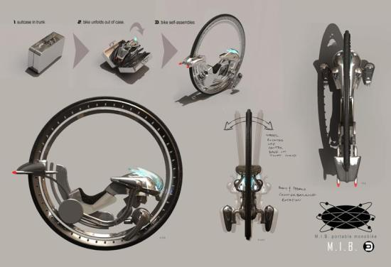 Men in Black 3 - Monowheel concept art 2