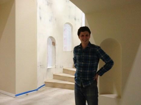 Michael Cera on Arrested Development set 1
