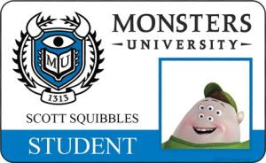 Monsters University ID - Squishy