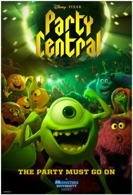 Monsters University short Party Central poster