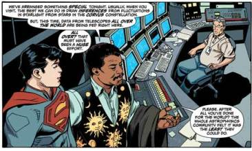 Superman and Neil deGrasse Tyson comic book panel