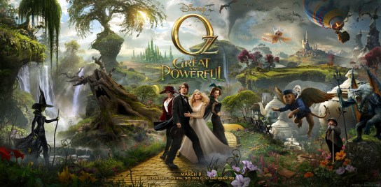 Oz The Great and Powerful - full triptych poster