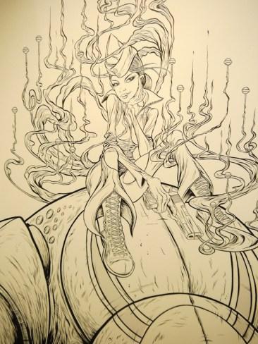 Alex Pardee - Sucker Punch Sketch 2