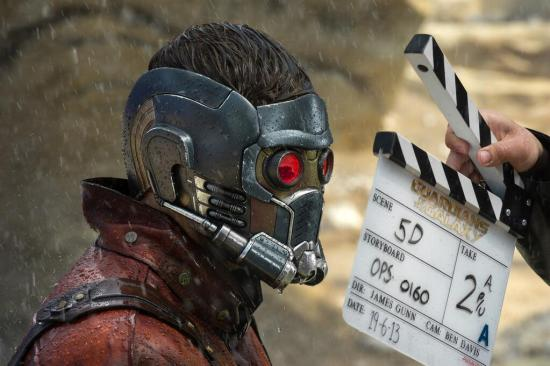 Star Lord Guardians of the Galaxy BTS