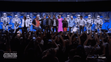 Star Wars 7 images - cast at Celebration
