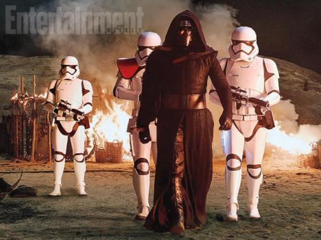 Star Wars The Force Awakens - Kylo Ren and Stormtroopers