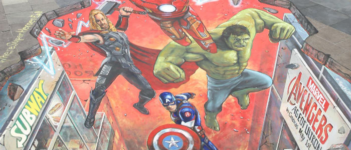 Subway Avengers Street Art