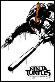 Teenage Mutant Ninja Turtle Street Poster Michaelangelo