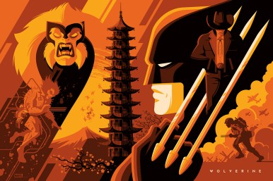 """Wolverine (Variant) by Tom Whalen 36"""" x 24"""" screen print. Edition of 150."""