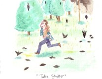 Julian Birchman's Take Shelter watercolor painting