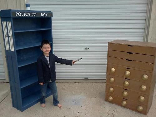 Little Doctor Who Battles Dalek Dresser