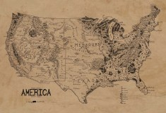A Map Of The United States As Middle Earth