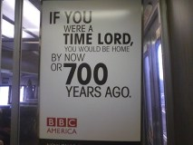 Doctor Who advertisement