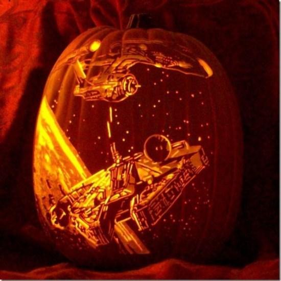 USS Enterprise vs. Millennium Falcon Geek-o'-Lantern