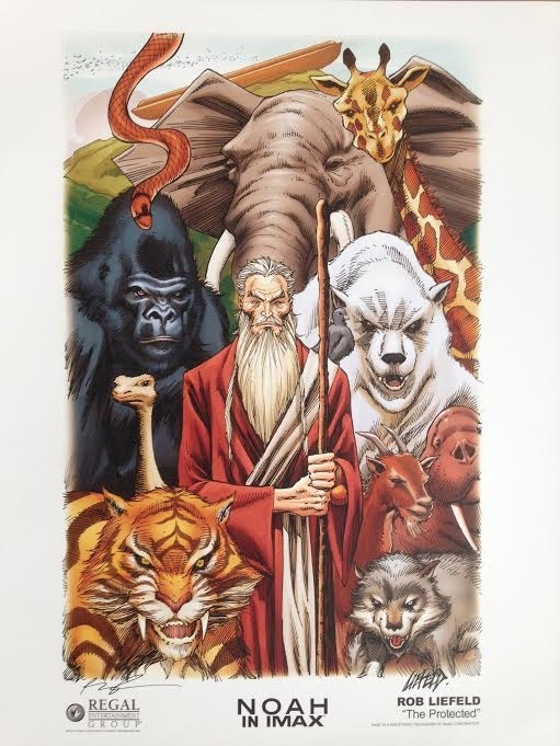 """Rob Liefeld's """"The Protected"""" Noah art poster"""