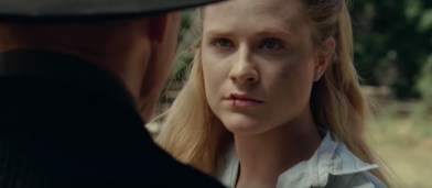 dolores and the man in black in Westworld