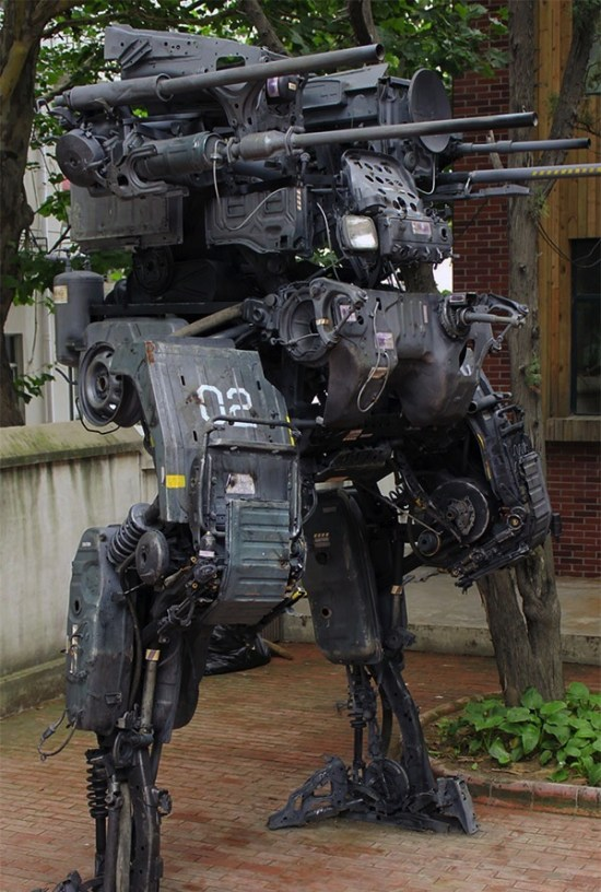 An Incredible 12-Foot Mech Built From Old Truck Parts