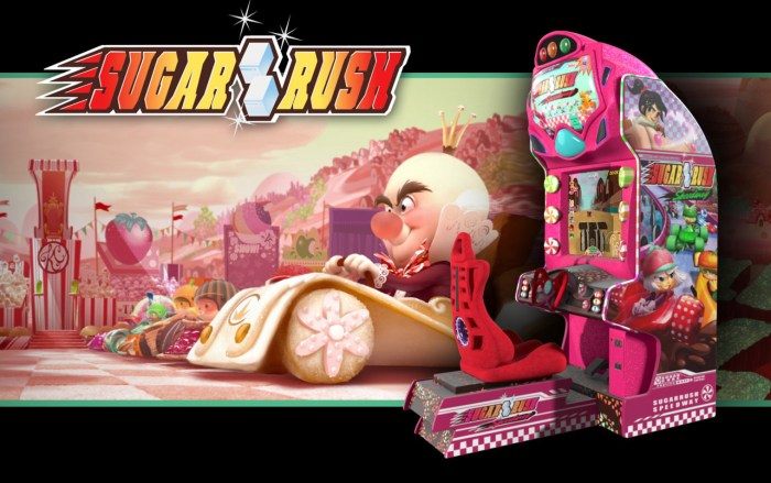 sugar rush - wreck it ralph ride rumor