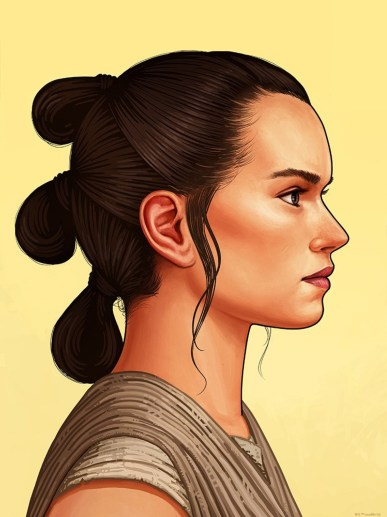 mike mitchell star wars rey portrait