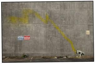Banksy dog whiz in Santa Monica