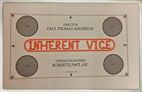 The framing chart used during production of Inherent Vice