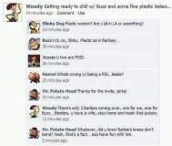 Toy Story characters on Facebook