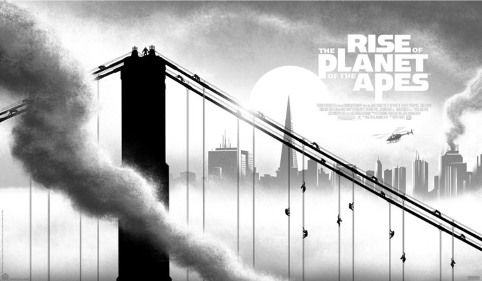 Rise of the Planet of the Apes by JC Richard - Mondo Prints Comic Con 2016