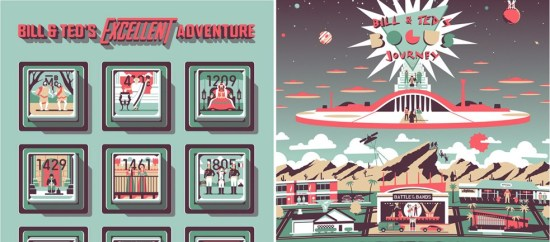 DKNG Bill and Ted Posters From Mondo