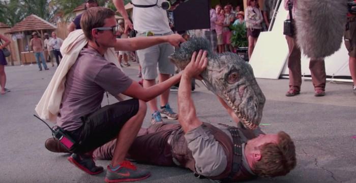 Jurassic World behind the scenes footage