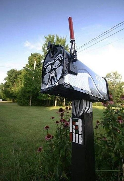 Darth Vader mail box