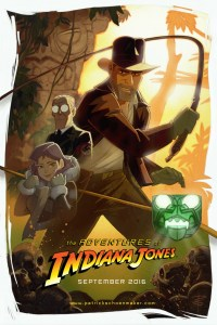 indiana jones animated poster