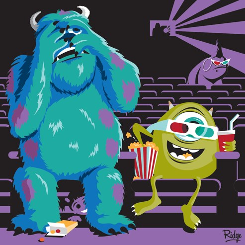 """Ridge's Off Duty: Sulley & Mike in """"Scary Movie"""""""