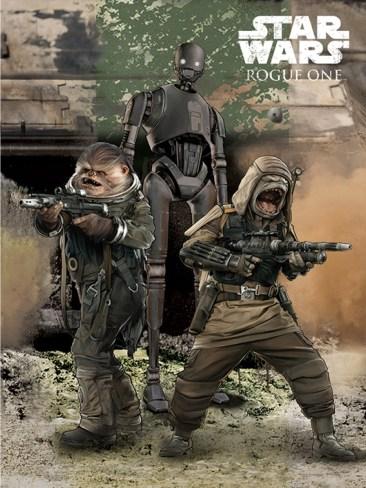 Rogue One artwork - pac, bastan and k-2so