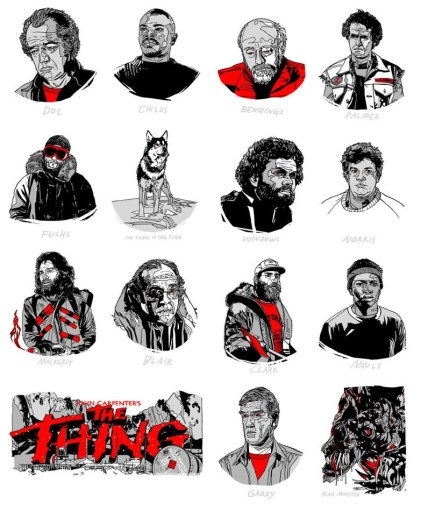 Tyler Stout's The Thing Handbills